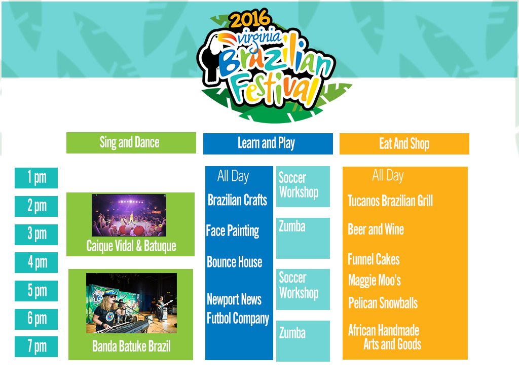 Virginia Brazilian Festival Schedule